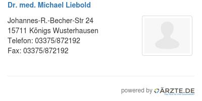 Dr med michael liebold 580121