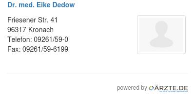 Dr med eike dedow 578807
