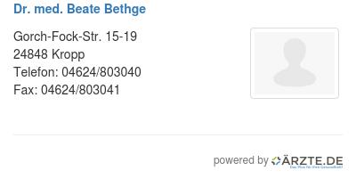 Dr med beate bethge 305273