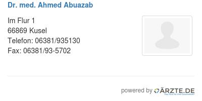 Dr med ahmed abuazab