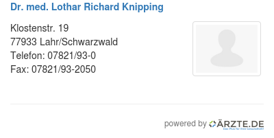 Dr med lothar richard knipping