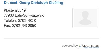 Dr med georg christoph kiessling 597154