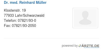 Dr med reinhard mueller