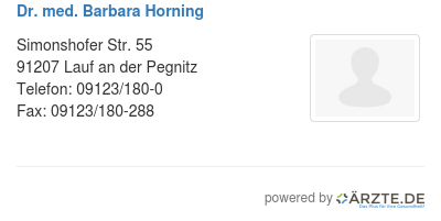 Dr med barbara horning
