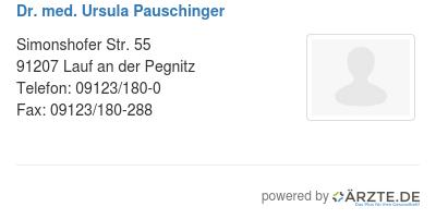 Dr med ursula pauschinger