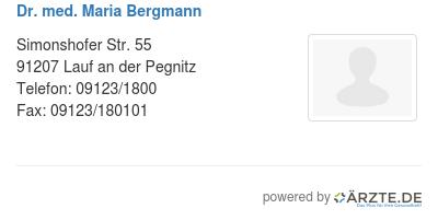 Dr med maria bergmann 425080