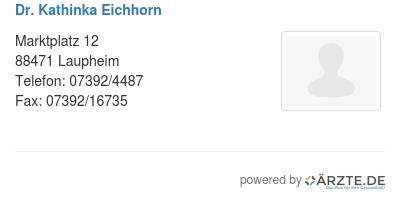 Dr kathinka eichhorn