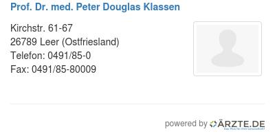 Prof dr med peter douglas klassen 578826
