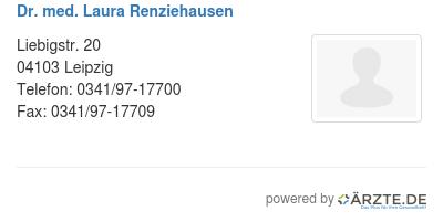 Dr med laura renziehausen