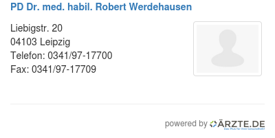 Pd dr med habil robert werdehausen