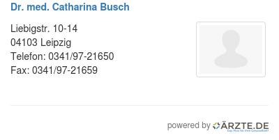 Dr med catharina busch