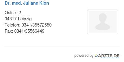 Dr med juliane klon 545809