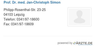 Prof dr med jan christoph simon