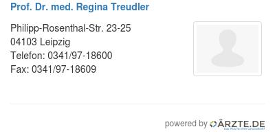 Prof dr med regina treudler