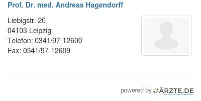 Prof dr med andreas hagendorff