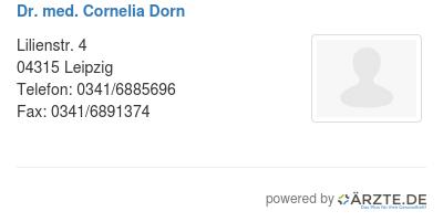 Dr med cornelia dorn