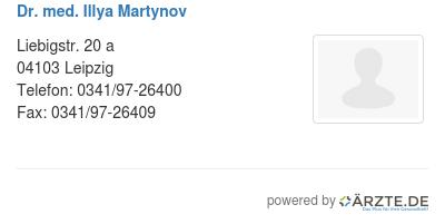 Dr med illya martynov