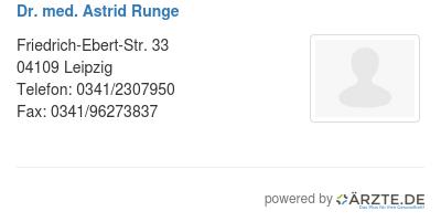 Dr med astrid runge