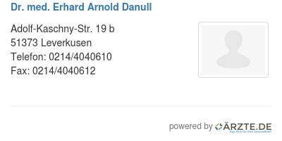 Dr med erhard arnold danull