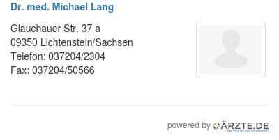 Dr med michael lang 580362