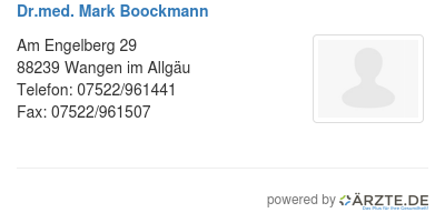 Dr med mark boockmann