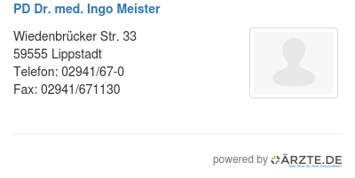 Pd dr med ingo meister 579612