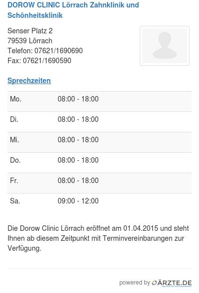 Dorow clinic loerrach zahnklinik und schoenheitsklinik