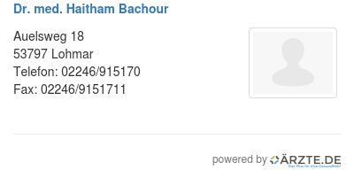 Dr med haitham bachour