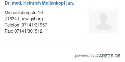 Dr med heinrich mollenkopf jun