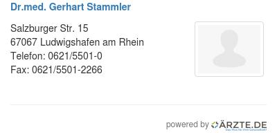 Dr med gerhart stammler