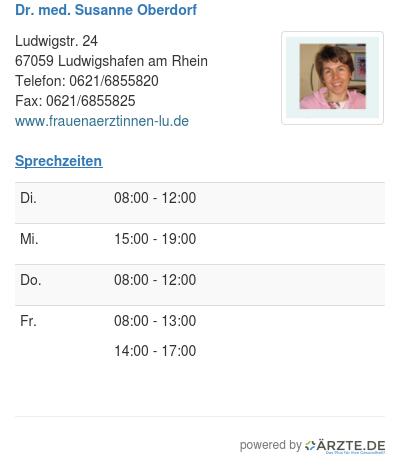 Dr med susanne oberdorf 334958