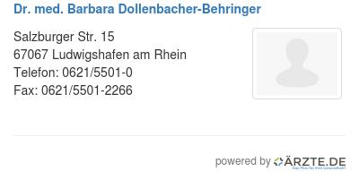 Dr med barbara dollenbacher behringer