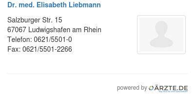 Dr med elisabeth liebmann