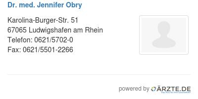 Dr med jennifer obry 529746