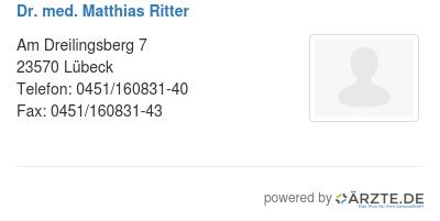 Dr med matthias ritter 574464