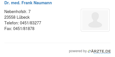 Dr med frank naumann