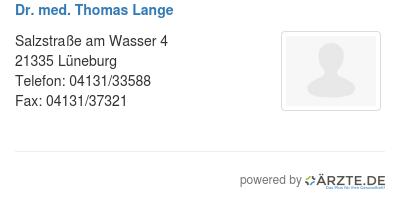 Dr med thomas lange 253333
