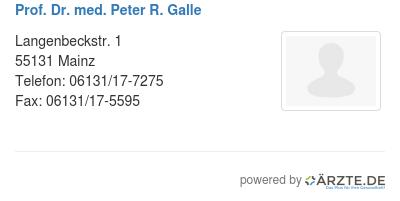 Prof dr med peter r galle