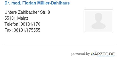 Dr med florian mueller dahlhaus