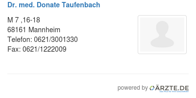 Dr med donate taufenbach