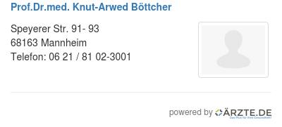 Prof dr med knut arwed boettcher