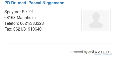 Pd dr med pascal niggemann