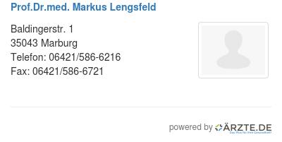 Prof dr med markus lengsfeld