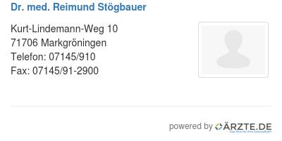 Dr med reimund stoegbauer