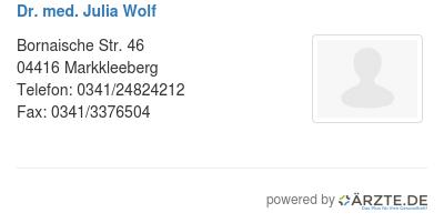 Dr med julia wolf 580909