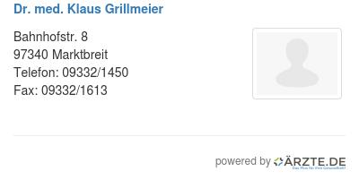 Dr med klaus grillmeier