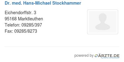 Dr med hans michael stockhammer