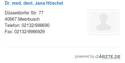 Dr med dent jana hoeschel 425123