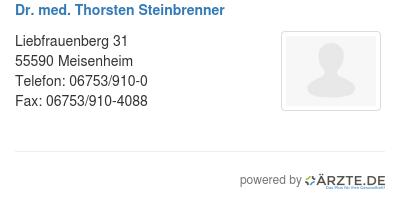 Dr med thorsten steinbrenner 579182