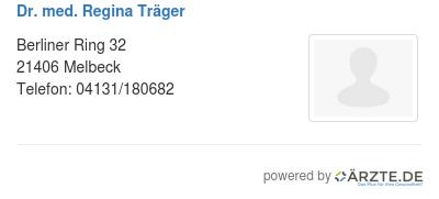 Dr med regina traeger 580584